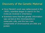 discovery of the genetic material