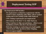 deployment testing sop1