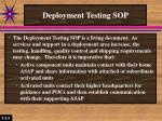 deployment testing sop2
