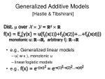 generalized additive models hastie tibshirani