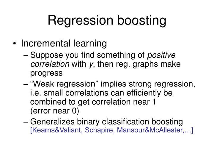 Regression boosting