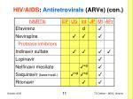 hiv aids antiretrovirals arvs con