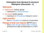 information from literature structure rifampicin discussion 2