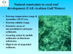 natural constraints to coral reef development uae arabian gulf waters