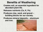 benefits of weathering