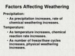 factors affecting weathering