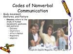codes of nonverbal communication1