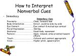 how to interpret nonverbal cues