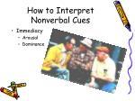 how to interpret nonverbal cues1