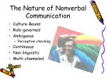 the nature of nonverbal communication