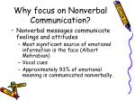 why focus on nonverbal communication
