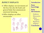 affect displays