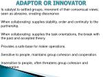 adaptor or innovator1