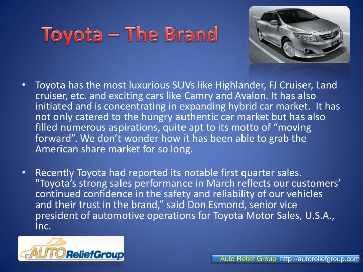 Toyota the brand