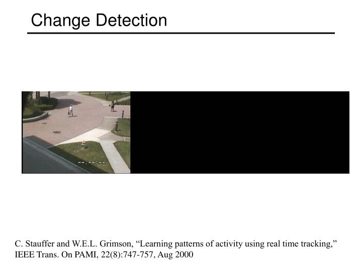 change detection n.