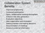 collaboration system benefits
