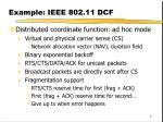 example ieee 802 11 dcf