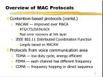 overview of mac protocols1