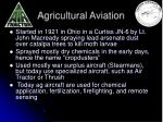 agricultural aviation