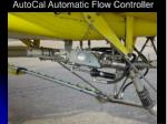 autocal automatic flow controller