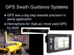 gps swath guidance systems