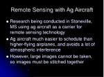 remote sensing with ag aircraft