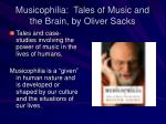 musicophilia tales of music and the brain by oliver sacks