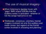 the use of musical imagery