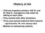 history of aa