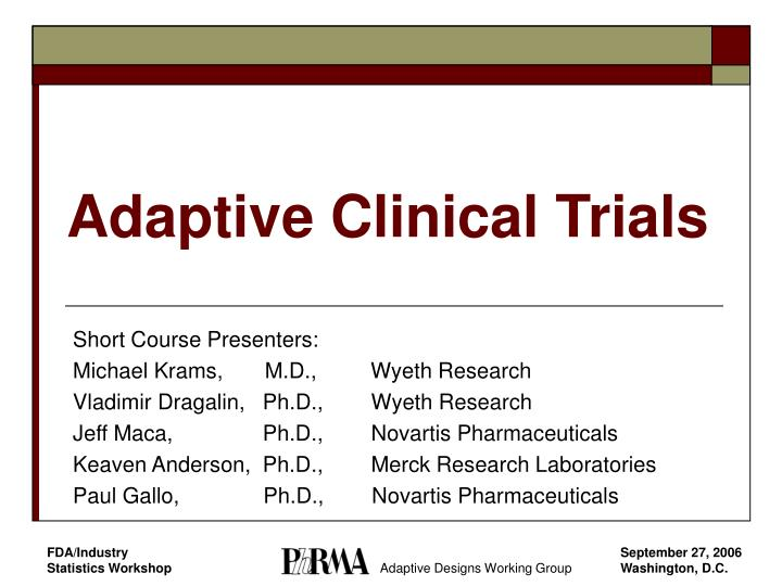 adaptive clinical trials n.