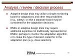 analysis review decision process1
