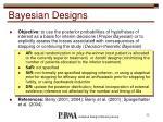 bayesian designs