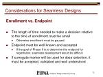 considerations for seamless designs1