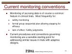 current monitoring conventions