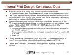 internal pilot design continuous data