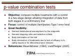 p value combination tests