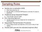 sampling rules