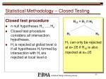 statistical methodology closed testing1