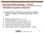 statistical methodology power