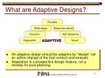 what are adaptive designs
