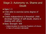 stage 2 autonomy vs shame and doubt