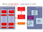 what is specified and what is not