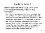 conflicting duties 2