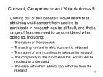 consent competence and voluntariness 5
