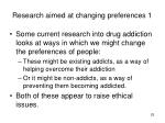 research aimed at changing preferences 1