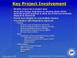 key project involvement