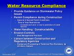 water resource compliance