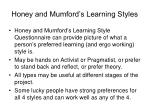 honey and mumford s learning styles