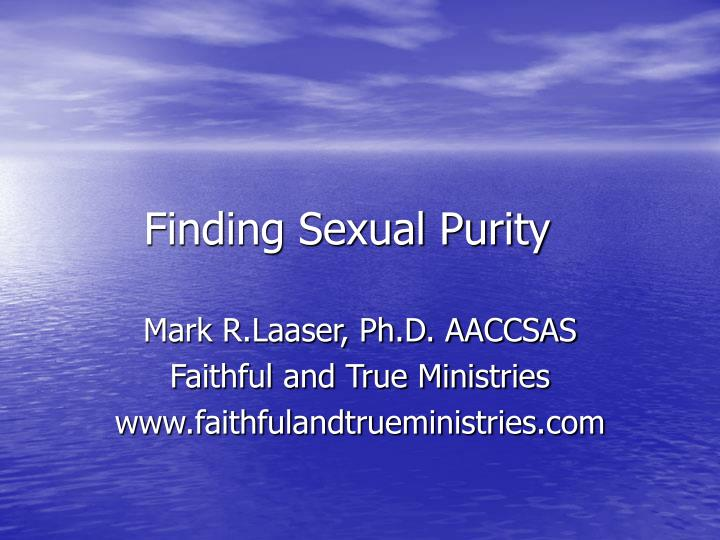 finding sexual purity n.