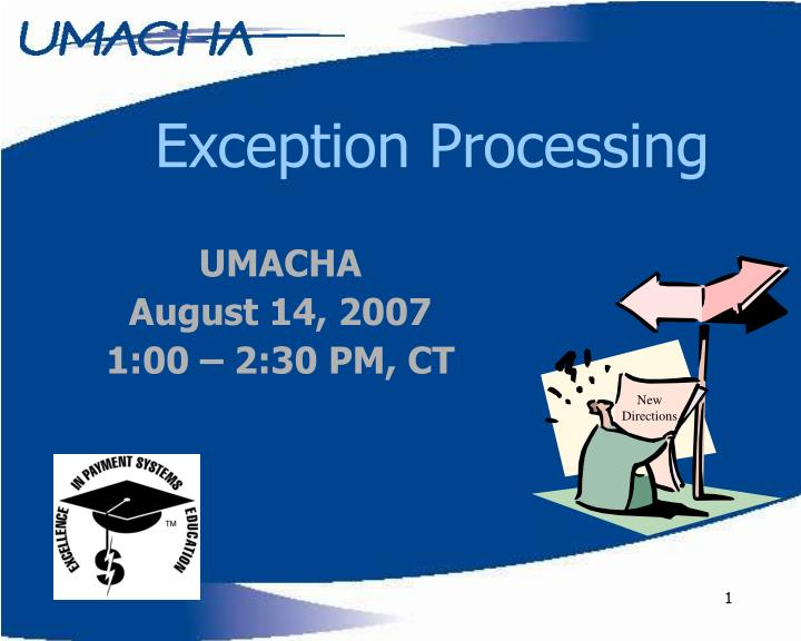 exception processing n.